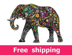 Apply this Colorful Floral Elephant Stickers in any flat surface. If you are looking for a piece of art, Colorful Floral Elephant Stickers is the perfect choice. Colorful Elephant, Elephant Love, Elephant Art, Elephant Images, Tattoo Elephant, Elephant Parade, Elephant Design, Pinterest Pinturas, Elephant Blanket
