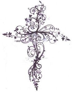 Feminine Cross Tattoos For Women - Free Tattoo Designs Tribal Zodiac Cross Star Tattoos & Ideas | Tattoo Places