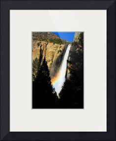 """Bridal Veil"" by Dave Corn, Yosemite Gateway City //  // Imagekind.com -- Buy stunning fine art prints, framed prints and canvas prints directly from independent working artists and photographers."