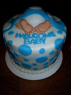 Baby shower baby butt cake