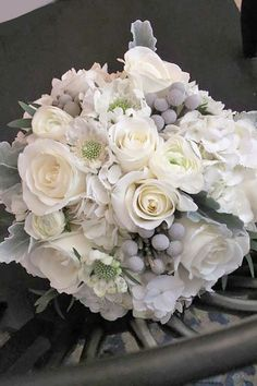 Trend Alert For Winter: Silver And Grey Wedding Bouquets ❤ See more: http://www.weddingforward.com/grey-wedding-bouquets/ #weddings