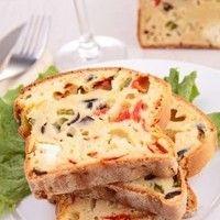 Recette Veggie Cake au Tofu, olives et tomates séchées