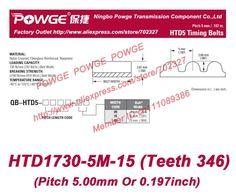 111.59$  Buy here - http://ali1a6.shopchina.info/go.php?t=32260075012 - 5pcs/lot 5M Timing belt 1730 5M 15 teeth 346 Rubber width 15mm length 1730mm HTD1730-5M-15 HTD5M Belt HTD1730-5M High torque 111.59$ #aliexpressideas