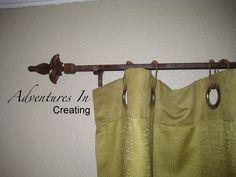 #curtain #rod steel #fleur de lis