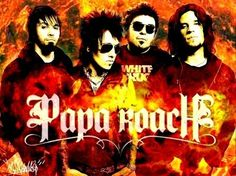 This is Papa Roach and one of my favorite bands for two reasons. One is that they sound awesome and second is that my dad lent me their CD. Love you Daddy!
