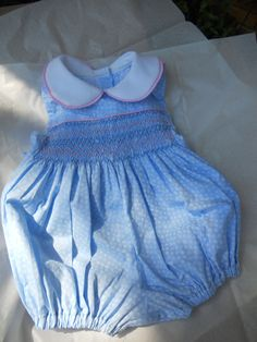 Size 12 Months Smocked Bubble. $30.00, via Etsy.