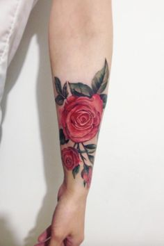 Cool Red Rose Tattoo
