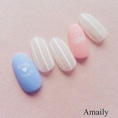 #Amaily#アメイリー #nailart#nailstagram#nails#nailartclub#nailswag#instanails#kawaii#cute#sweet#manicure#kawaiinailart#happy#gelnailart#japanesenailart#ネイル#ネイルシール#ネイルアート#ジェルネイル#ジェル#セルフ#セルフネイル#マットコートネイル#ストライプ