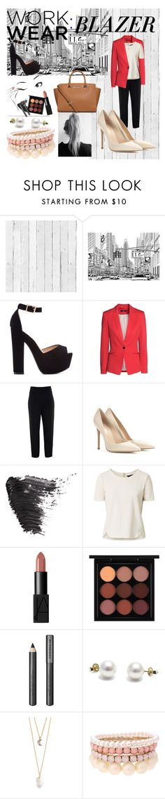 """""""Work Wear: BLAZER"""" by sec71290 ❤ liked on Polyvore featuring NLXL, Garance Doré, H&M, Givenchy, Gianvito Rossi, Topshop, NARS Cosmetics, MAC Cosmetics, Burberry and With Love From CA"""
