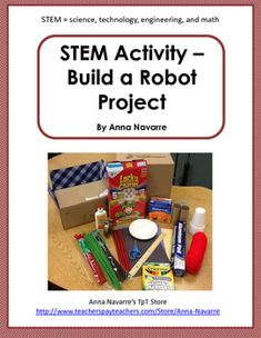 This Stem Activity project is a hands on approach to learning. Students use a 4 page packet to plan, design, construct and reflect on their learning. Stem Learning, Cooperative Learning, Project Based Learning, Math Stem, Stem Science, Ice Breakers For Work, Build A Robot, Stem School, Stem Steam