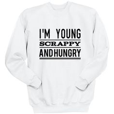 I'm Young Scrappy and Hungry Hamilton Gifts Revolutionaries My Shot... ($25) ❤ liked on Polyvore featuring tops, black, sweatshirts, women's clothing, long tops, woven shirts, crew shirt, checked shirt and long length shirts