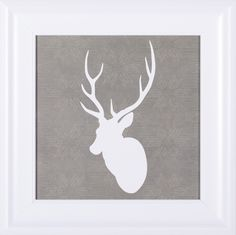 'Buck I' by Sabine Berg Framed Painting Print