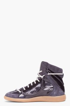 MAISON MARTIN MARGIELA Charcoal Suede Replica Sneakers