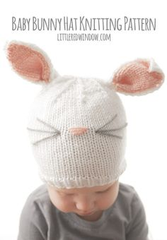 Baby Bunny Hat KNITTING PATTERN  knit hat pattern for babies