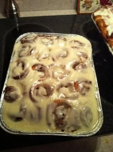 These cinnamon rolls are amazing. In my community, I'm sort of the cinnamon roll queen. And it's awesome. I try not to make them too often. Otherwise they might not be as special. I adore these...