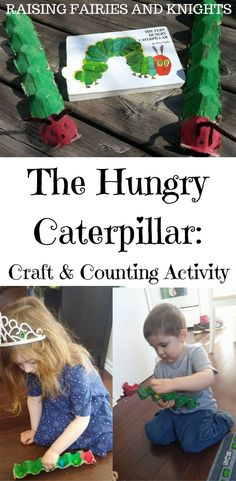 The Hungry Caterpillar - Practice fine motor skills, colour recognition & counting in this fun The Hungry Caterpillar: Craft & Counting Activity for the #MonthlyCraftingBookClub