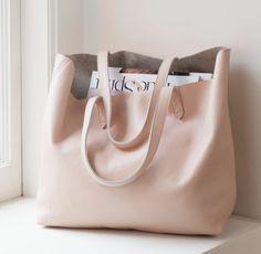 Розовая сумка tote. Летние сумки.