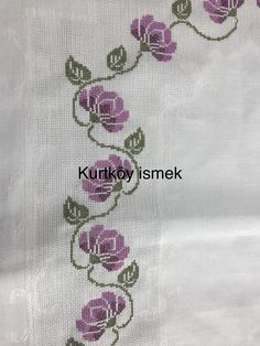 Cross Stitch Patterns, Diy And Crafts, Table Runners, Embroidery, Handmade, Cross Stitch Art, Cross Stitch Flowers, Cross Stitch Embroidery, Border Tiles