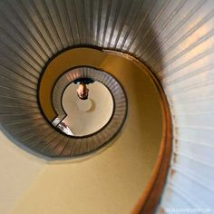Iconic Photo of the Spiral Staircase Point Loma Lighthouse in San Diego // localadventurer.com