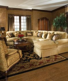 The Throw #pillows Really Pop On The 2071 #sectional From Huntington House # Furniture