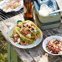 Try our tasty Brazilian Shrimp Tacos with Pineapple Salsa and Mango Lime Dressing made using the Pineapple Slicer and Wedger at The Good Guys. Shrimp Taco Recipes, Shrimp Tacos, Pineapple Salsa, Pineapple Slicer, Lime Dressing, Fish And Seafood, Food For Thought, Easy Desserts, Barbecue