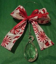 Vintage Heirloom Cut Glass Crystal Holiday Ornaments