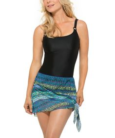 Look at this Silhouette Solution Blue & Green Key Lines Transformable One-Piece on #zulily today!