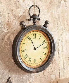 Loving this Antique Stop Watch Wall Clock on #zulily! #zulilyfinds