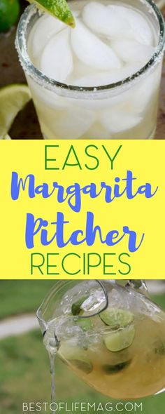 These margarita pitcher recipes are perfect for a crowd and make the BEST party drinks! Easy Margarita Pitcher Recipes for a party! Margarita Alcohol, Pitcher Margarita Recipe, Pitcher Of Margaritas, Pitcher Drinks, Skinny Margarita, Party Drinks Alcohol, Drinks Alcohol Recipes, Margarita Recipes, Fun Cocktails