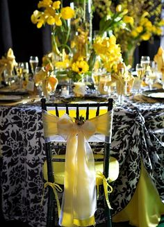 Tablescape ● Chair Decor ● Yellow