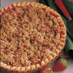 Everyone seems to have a rhubarb patch here in Maine. This pie won first prize at our church fair; I hope it\'s a winner at your house, too!