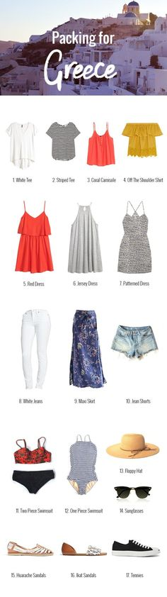 Packing list for going to Greece // Nattie on the Road