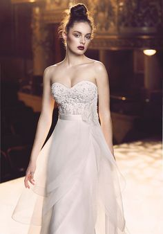 Strapless Lace Corset Wedding Dress Bodice with Beaded Accents | Style 4713 by Paloma Blanca |  http://trib.al/rRFYWmI