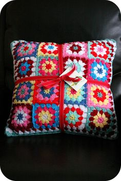 happy granny square pillow Christmas gifts? Homeless Christmas Eve gift with blankets??
