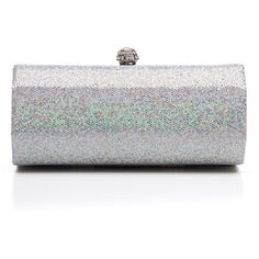 J. Furmani Women's Sequin Embellished Hardcase Clutch ($35) ❤ liked on Polyvore featuring bags, handbags, clutches, gold, rhinestone handbags, rhinestone purse, rhinestone studded purse, chain handle handbags and evening box clutch