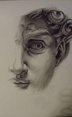 Study based on Michelangelo& David, graphite on paper Pencil Art Drawings, Art Drawings Sketches, Michelangelo, Frida Art, Arte Sketchbook, A Level Art, Aesthetic Art, Art Inspo, Painting & Drawing