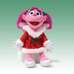 "GUND SESAME STREET CHRISTMAS HOLIDAY ABBY CADABBY Plush 12"" Doll, NEW #GUND"