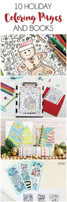 10 Holiday Coloring Pages and Books