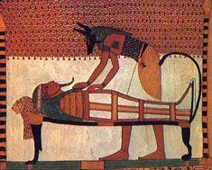 Pintura mural de la tumba de Senedyem. Dehir el-Medina. Imperio Nuevo. Dinastia XIX.