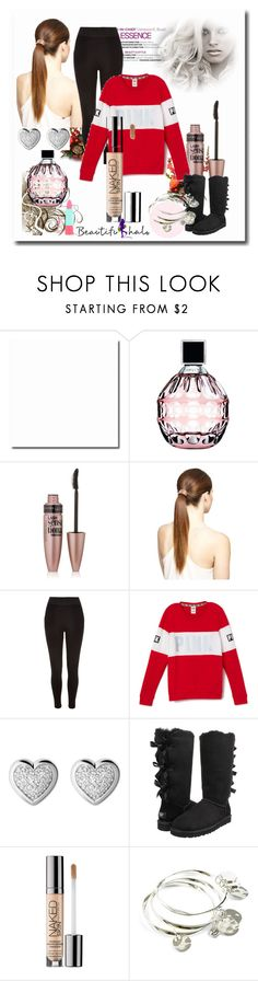"""""""School Outfits"""" by schooloutfits101 on Polyvore featuring Jimmy Choo, Maybelline, River Island, Victoria's Secret, Links of London, UGG Australia, Urban Decay, Vera Bradley, Rimmel and livelaughlove"""