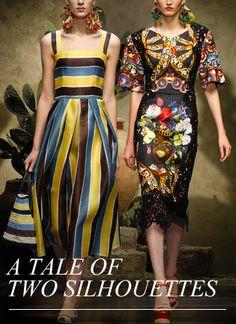 Dolce Woman Store - Striped Organza Sun Dress SS 2013