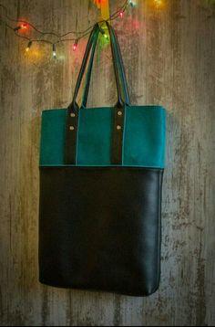 Leather bag shopper