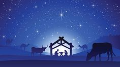 Christmas Nativity Scene - Birth of Jesus Christ - ilustración de arte vectorial
