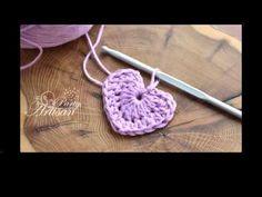 DIY: crochet heart - not knitting, but a great way to use up yarn scraps! Crochet Diy, Crochet Motifs, Love Crochet, Learn To Crochet, Crochet Crafts, Yarn Crafts, Crochet Flowers, Crochet Stitches, Crochet Patterns