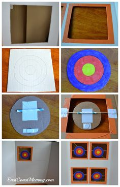 Make your own NERF targets (using dollar store supplies).