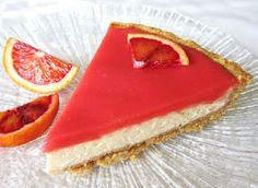 Vanilla Blood Orange Cheesecake Tart