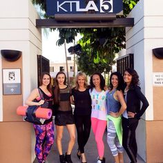 Thanks for having us KTLA ... Was great to talk Spring Active wear and all things Active Living Lx