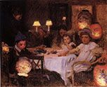 A Children's Party by Walter Frederick Osborne Illumination Art, Irish Art, Oil Painting Reproductions, Paper Lanterns, Oil Painting On Canvas, Painting Art, Framed Art, Art For Kids, Party