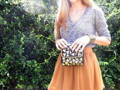 DIY patterned clutch