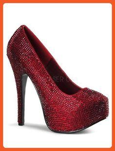 Ruby Rhinestones High Heel Platform Pump - 6 - Pumps for women (*Amazon Partner-Link)
